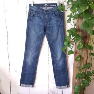 Seven For All Mankind selvedge crop straight leg